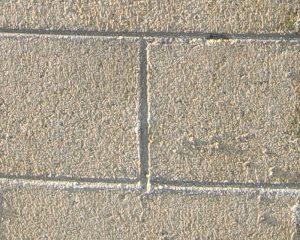 コンクリートブロック塀、特殊施工後の拡大写真
