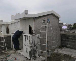 コンクリートのお墓の復元コーティング