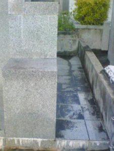 御影石のエフロ(白華現象)防止のコーティング