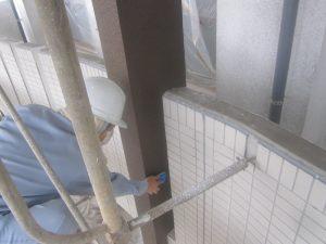 外壁【柱】部分のコーティングをしました!