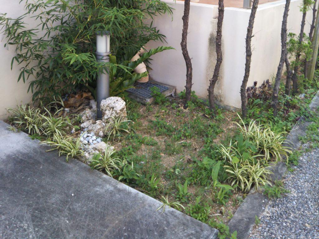 お庭の施工前
