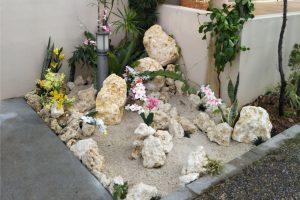 和風石庭園 坪庭(琉球石灰岩アレンジメント)