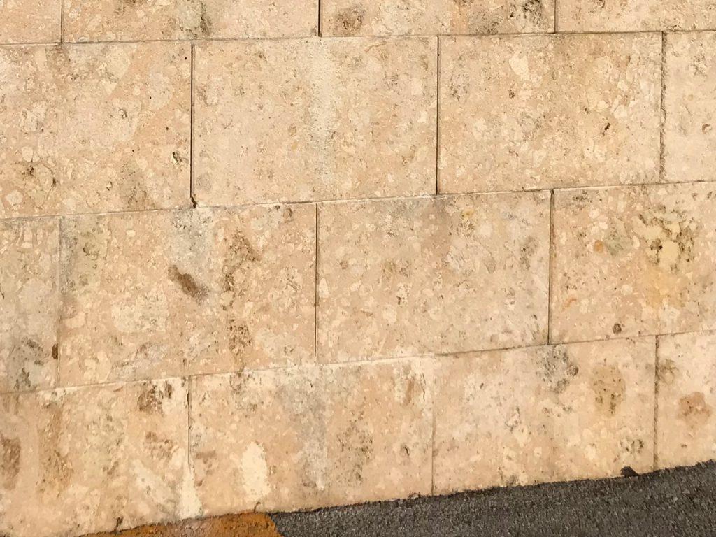 琉球石灰岩のエフロ除去
