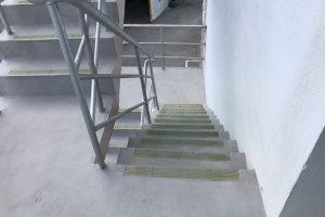 階段の特殊表面被覆工法 施工後