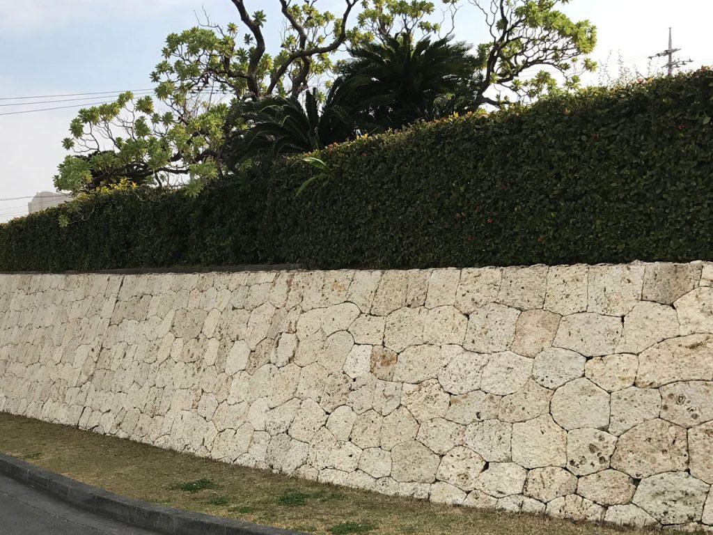 琉球石灰岩外壁の美観の復元(築40年)前